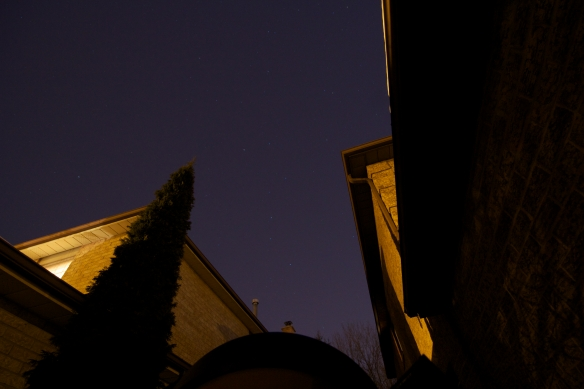 The Big Dipper Between Two Houses