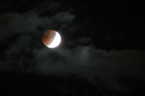 Lunar Eclipse though clouds