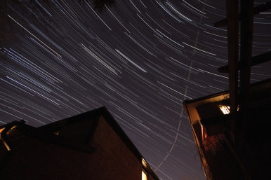 Startrails behind my house